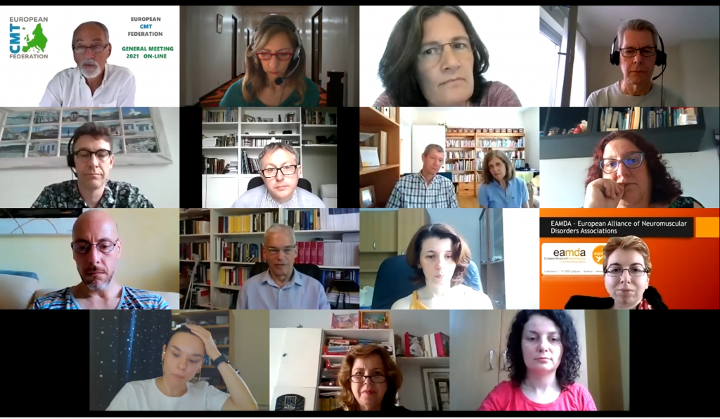 The image is a screenshot taken during the General Meeting. All the participants are there.